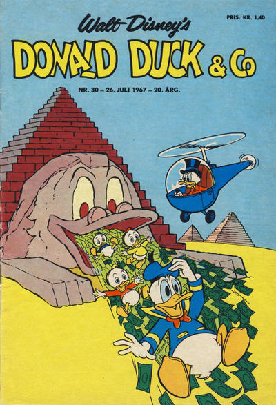 Cover for Donald Duck & Co (Hjemmet, 1948 series) #30/1967