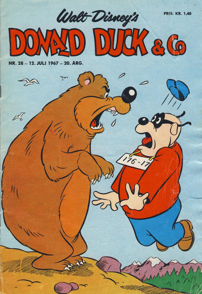 Cover for Donald Duck & Co (Hjemmet, 1948 series) #28/1967