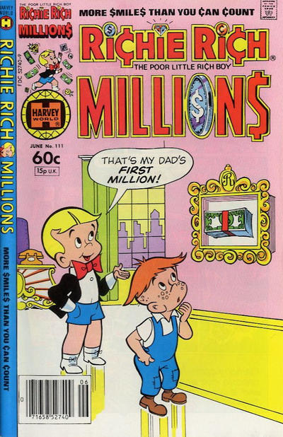Cover for Richie Rich Millions (Harvey, 1961 series) #111