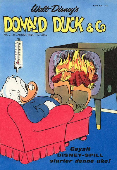 Cover for Donald Duck & Co (Hjemmet, 1948 series) #2/1964
