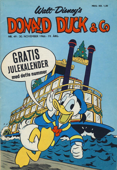 Cover for Donald Duck & Co (Hjemmet, 1948 series) #49/1966