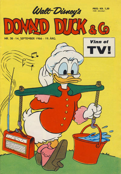 Cover for Donald Duck & Co (Hjemmet / Egmont, 1948 series) #38/1966