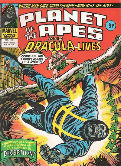 Cover for Planet of the Apes (Marvel UK, 1974 series) #110