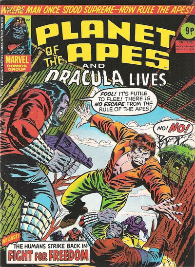 Cover for Planet of the Apes (Marvel UK, 1974 series) #109