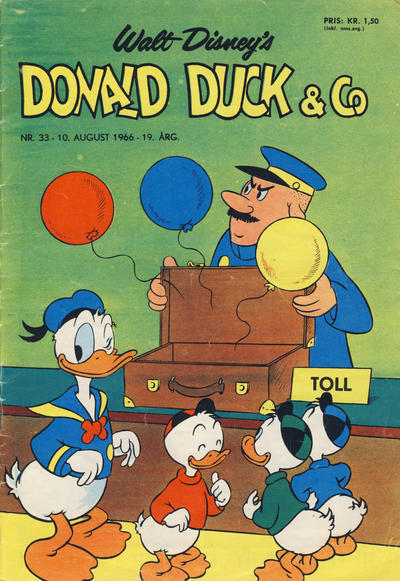Cover for Donald Duck & Co (Hjemmet, 1948 series) #33/1966
