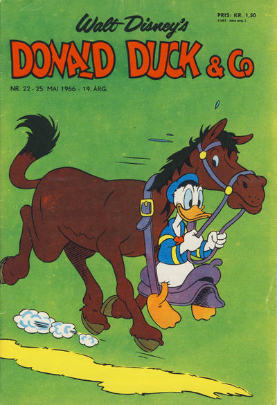 Cover for Donald Duck & Co (Hjemmet, 1948 series) #22/1966