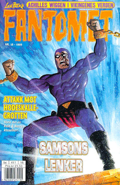 Cover for Fantomet (Egmont Serieforlaget, 1998 series) #16/1999