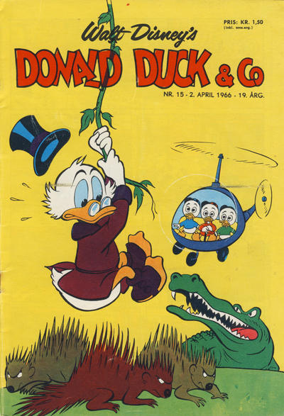 Cover for Donald Duck & Co (Hjemmet, 1948 series) #15/1966