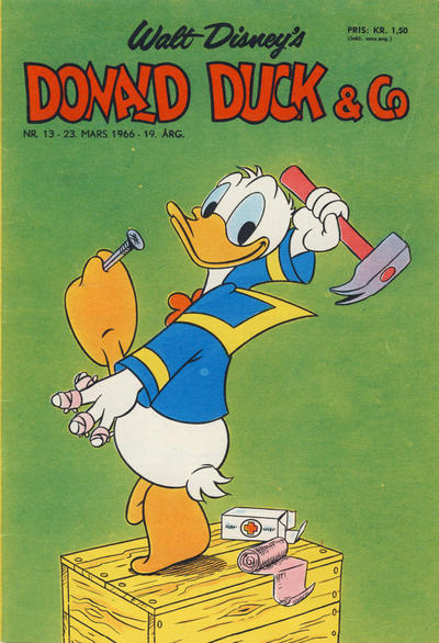 Cover for Donald Duck & Co (Hjemmet, 1948 series) #13/1966