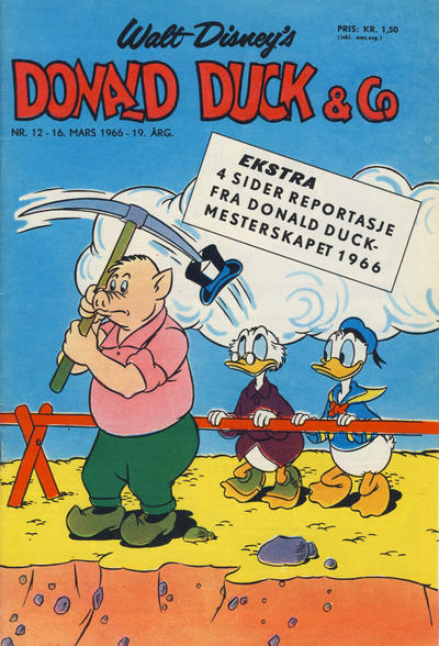 Cover for Donald Duck & Co (Hjemmet, 1948 series) #12/1966
