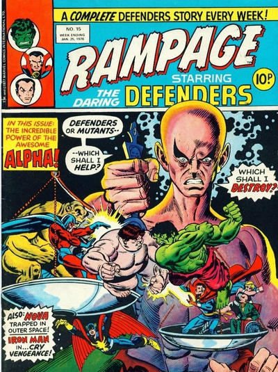 Cover for Rampage (Marvel UK, 1977 series) #15