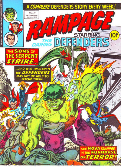 Cover for Rampage (1977 series) #21