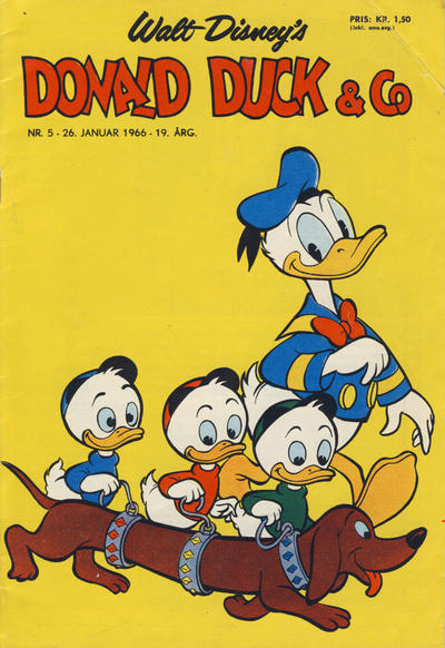 Cover for Donald Duck & Co (Hjemmet, 1948 series) #5/1966