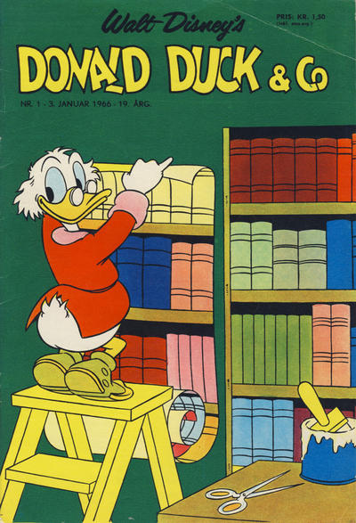 Cover for Donald Duck & Co (Hjemmet, 1948 series) #1/1966