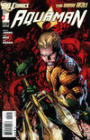Cover for Aquaman (DC, 2011 series) #1 [2nd Printing - Red Background]