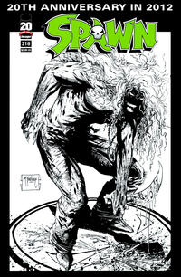 Cover Thumbnail for Spawn (Image, 1992 series) #216 [Sketch Variant Cover by Todd McFarlane]