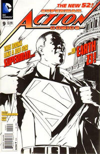 Cover Thumbnail for Action Comics (DC, 2011 series) #9 [Gene Ha Variant Sketch Cover]