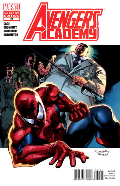 Cover for Avengers Academy (2010 series) #31 [Amazing Spider-Man In Motion Variant Cover by Stephen Segovia]