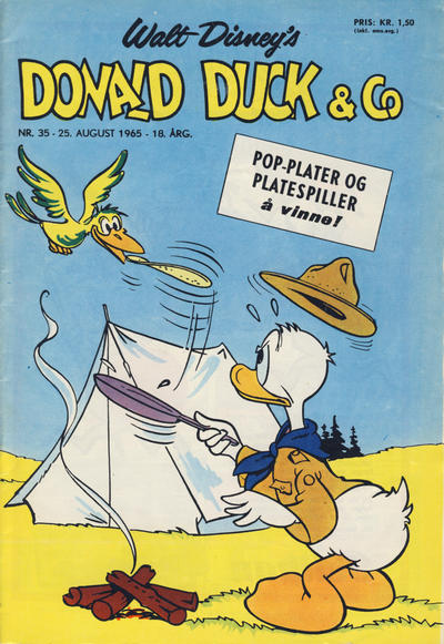 Cover for Donald Duck & Co (Hjemmet, 1948 series) #35/1965