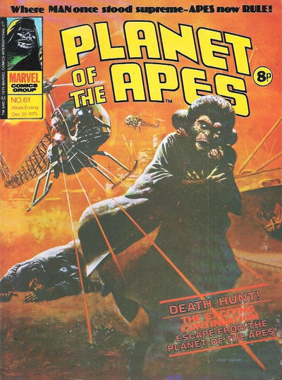 Cover for Planet of the Apes (Marvel UK, 1974 series) #61