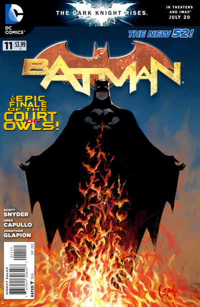 Cover for Batman (DC, 2011 series) #11 [Greg Capullo Sketch Cover]