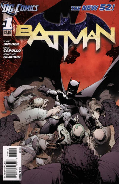 Cover for Batman (2011 series) #1 [2nd Printing - Red Background]