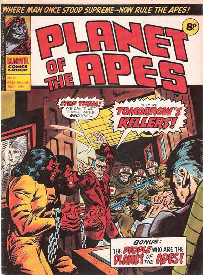 Cover for Planet of the Apes (Marvel UK, 1974 series) #54