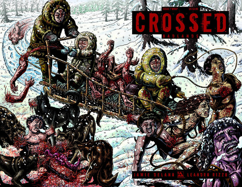 Cover for Crossed Badlands (Avatar Press, 2012 series) #7 [Regular Cover - Jacen Burrows]