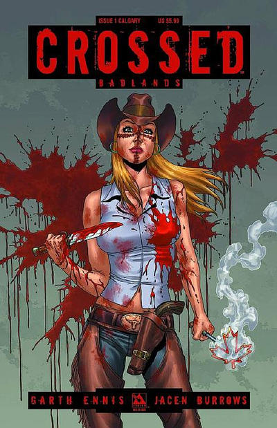 Cover for Crossed Badlands (Avatar Press, 2012 series) #1 [Calgary Variant Cover by Jacen Burrows]