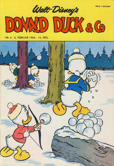 Cover for Donald Duck & Co (Hjemmet, 1948 series) #6/1963