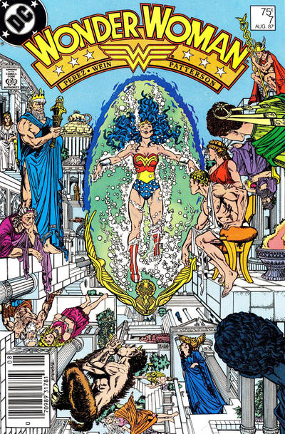 Cover for Wonder Woman (DC, 1987 series) #7 [Newsstand Edition]
