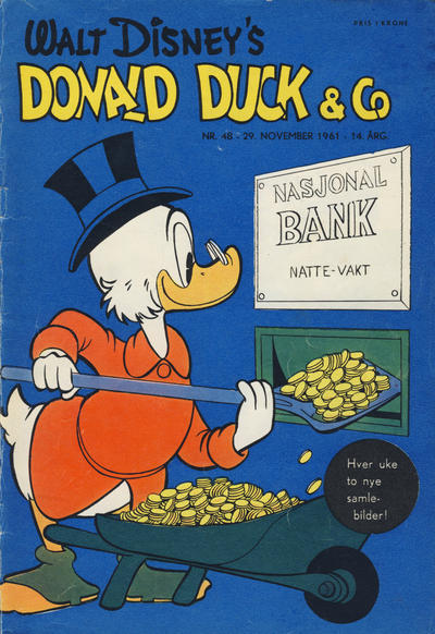Cover for Donald Duck & Co (Hjemmet, 1948 series) #48/1961