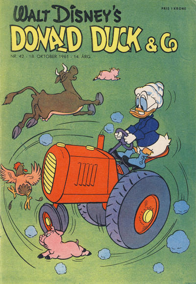 Cover for Donald Duck & Co (Hjemmet, 1948 series) #42/1961