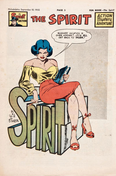 Cover for The Spirit (Register and Tribune Syndicate, 1940 series) #9/10/1950
