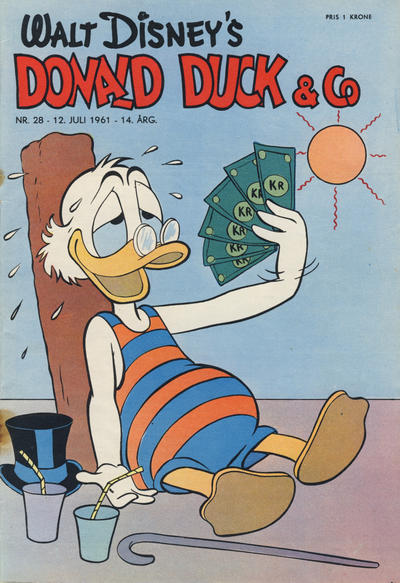 Cover for Donald Duck & Co (Hjemmet, 1948 series) #28/1961