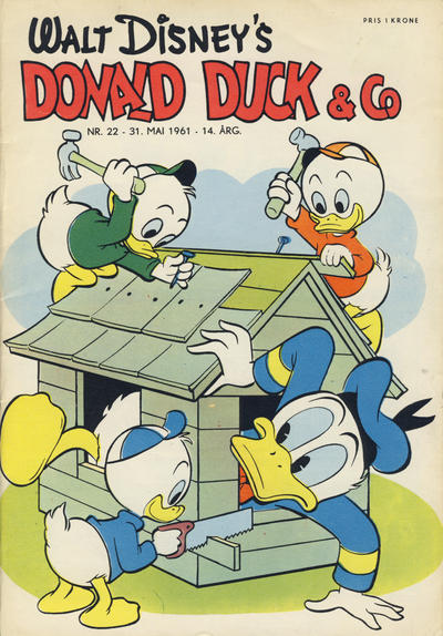 Cover for Donald Duck & Co (Hjemmet, 1948 series) #22/1961