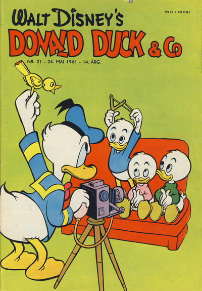 Cover for Donald Duck & Co (Hjemmet, 1948 series) #21/1961