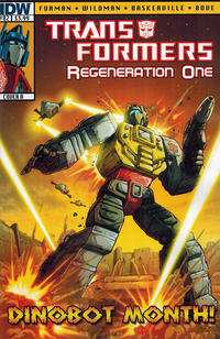 Cover for Transformers: Regeneration One (IDW, 2012 series) #82 [Cover A - Andrew Wildman]