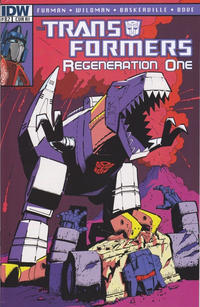 Cover Thumbnail for Transformers: Regeneration One (IDW, 2012 series) #82 [Cover RI - Incentive Geoff Senior Variant]