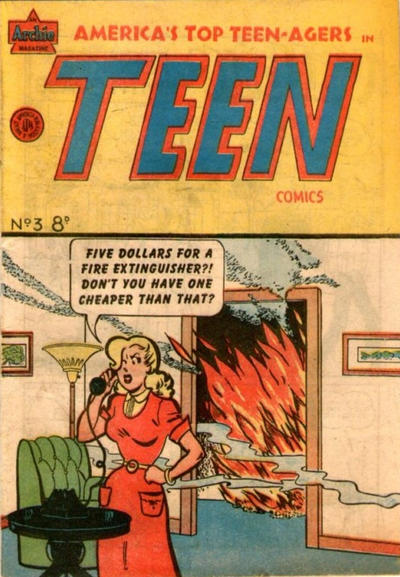 Cover for Teen Comics (H. John Edwards, 1950 ? series) #3