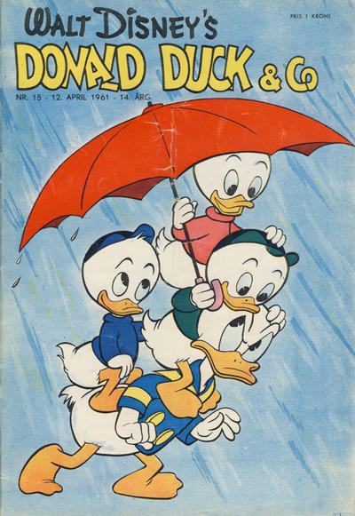 Cover for Donald Duck & Co (Hjemmet, 1948 series) #15/1961