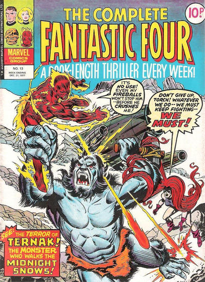 Cover for The Complete Fantastic Four (Marvel UK, 1977 series) #13