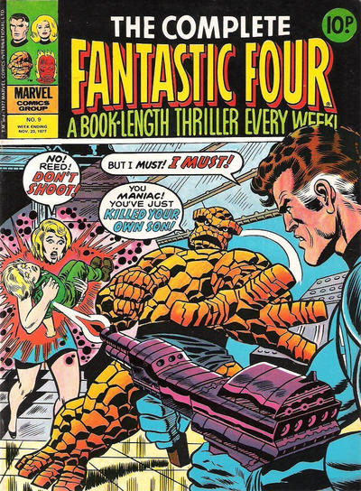 Cover for The Complete Fantastic Four (Marvel UK, 1977 series) #9