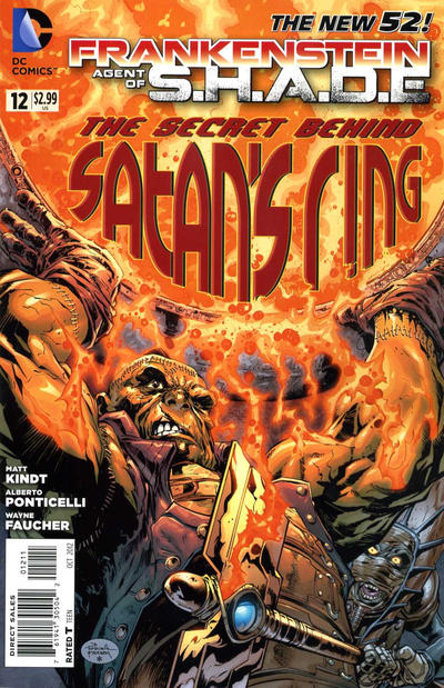 Cover for Frankenstein, Agent of S.H.A.D.E. (DC, 2011 series) #12