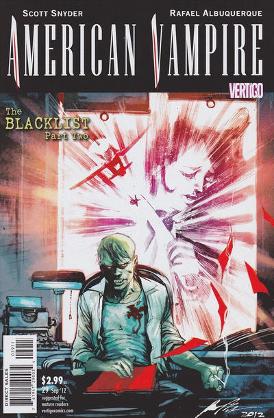 Cover for American Vampire (DC, 2010 series) #29 [Variant Cover by Dave Johnson]