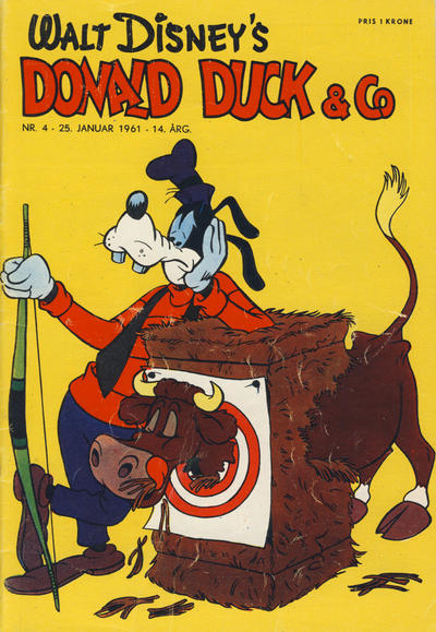 Cover for Donald Duck & Co (Hjemmet, 1948 series) #4/1961