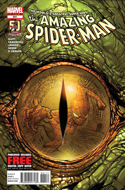 Cover for The Amazing Spider-Man (Marvel, 1999 series) #691 [Kubert]