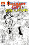 Cover Thumbnail for Danger Girl and the Army of Darkness (2011 series) #6 [Nick Bradshaw Black and White Retailer Incentive Cover]