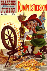 Cover Thumbnail for Classics Illustrated Junior (Gilberton, 1953 series) #512 - Rumpelstiltskin [25 cent reprint]