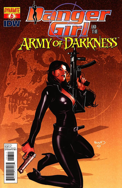 Cover for Danger Girl and the Army of Darkness (Dynamite Entertainment, 2011 series) #6 [Nick Bradshaw Cover]